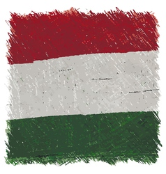 Flag of Hungary handmade square shape vector image vector image
