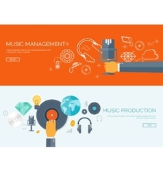 Flat background Music vector image vector image