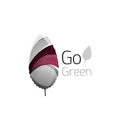 Go green logo Green nature concept vector image