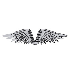graffiti wings feathers decoration design image vector image vector image
