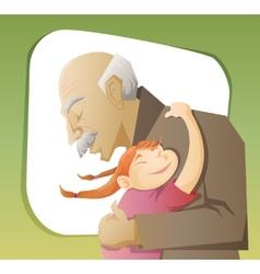 Grandfather and grandchild vector