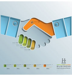 Hand shake business infographic vector