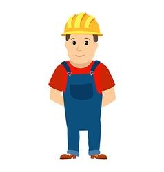 Happy cartoon repairman or construction worker vector