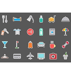 Hotel service stickers set vector image