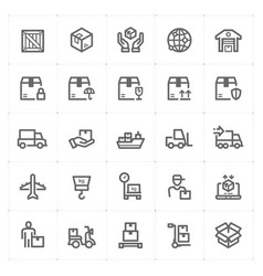 icon set - logistic and delivery vector image