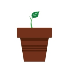 Leaf pot plant green nature ecology icon vector