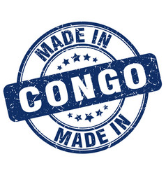 Made in congo blue grunge round stamp vector