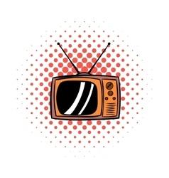 Old TV comics icon vector image