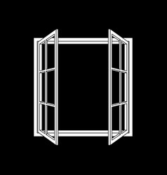 open window frame icon vector image