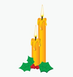 Pair of candle vector image