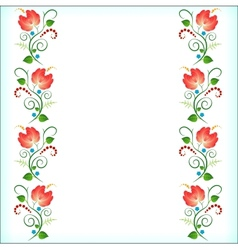 pattern on white vector image