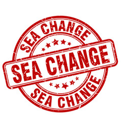 Sea change red grunge stamp vector
