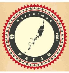 Vintage label-sticker cards of Palau vector image vector image