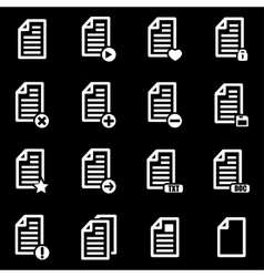 white documents icon set vector image