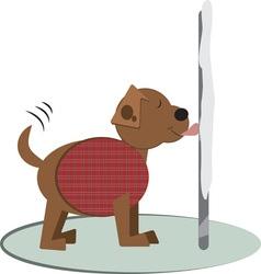 Winter doggy pole vector