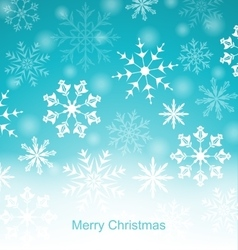 Xmas Blue Background with Snowflakes vector image vector image