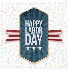 Happy labor day text on label vector