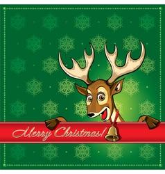 Cristmas deer card 1 vector image