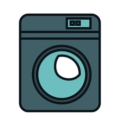 Wash machine isolated icon vector