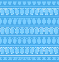 Seamless pattern with amphora vector