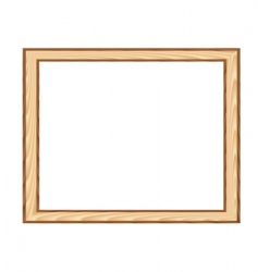 wood framework vector image