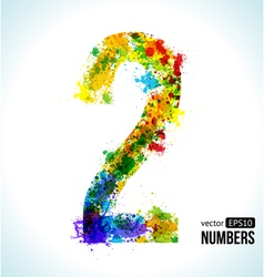 Number 2 gradient number vector