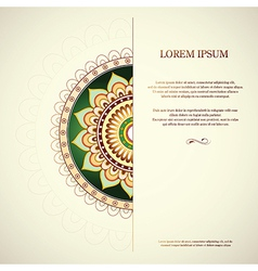 Invitation card with copy space vector image