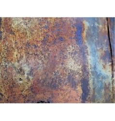 Texture of rusty metal vector