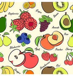 Fruits seamless3 vector