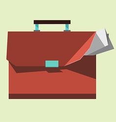 Briefcase icon portfolio flat design vector image