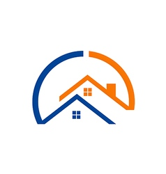 House realty construction logo vector