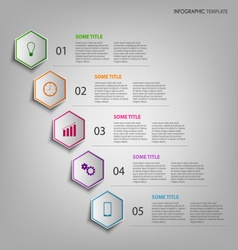 Info graphic with colorful hexagons template vector