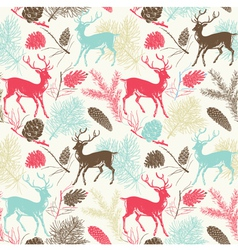 Deer forest pattern vector