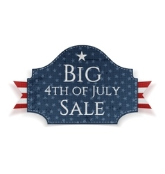 Big 4th of july sale banner with ribbon vector