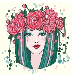 Beautiful women with flowers vector image