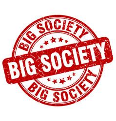 Big society red grunge stamp vector