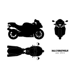 black silhouette of motorcycle vector image vector image
