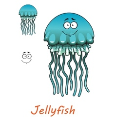 Cartoon underwater jellyfish vector image