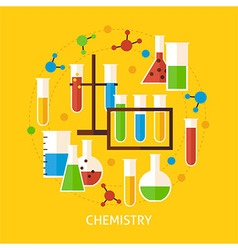 Chemistry Science Flat Concept vector image vector image