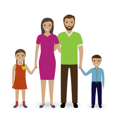 family people standing together father mother vector image vector image