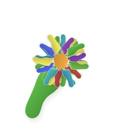 foot flower vector image