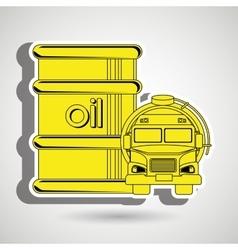 Gasoline truck isolated icon design vector
