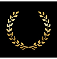 Gold laurel wreath vector