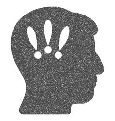 Head Problems Grainy Texture Icon vector image
