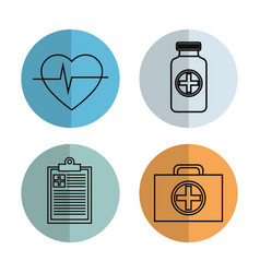 Health care flat icons vector