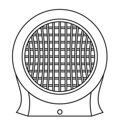 Heater icon outline style vector