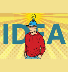 Idea man casual clothes vector