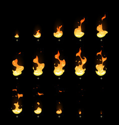 ignition and fading fire trap animation sprite vector image vector image