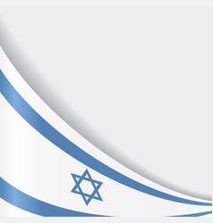 israeli flag background vector image vector image