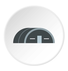 Large hangar icon flat style vector